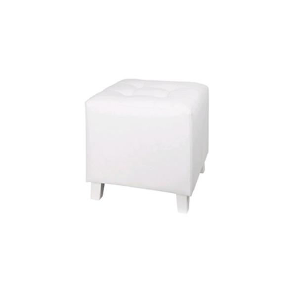 Pouf couleur blanc - 8 exemplaires